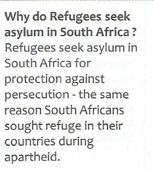Extrait de la brochure « South African United against Xenophobia, Racism and Discrimination »